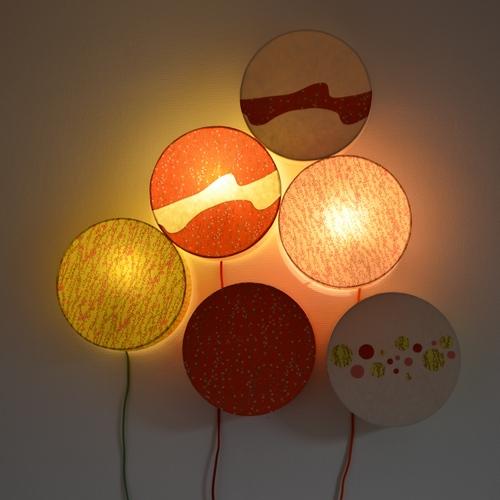 Appliques lumineuses, collection Joyeuse, Agnès Clairand