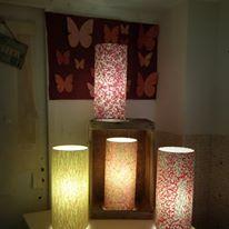 Lampe papier japonais couleur printanieres agnes clairand