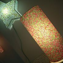 lampe papier japonais motif printanier agnes clairand