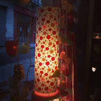 lampe papier japonais rose et bleu agnes clairand