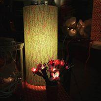 lampes papiers japonais motifs petite fleur agnes clairand