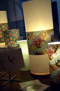 lampes tubes a poser en papier japonais