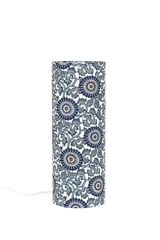 Lampe de bureau Azul grecque en papier japonais eteinte