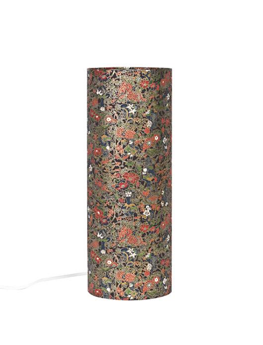 Lampe de bureau zen aztheque en papier japonais eteinte
