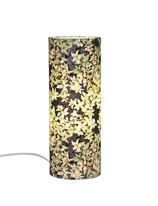 Lampe de bureau zen menthe en papier japonais allumee