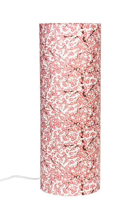 Lampe de table Liberty rose en papier japonais eteinte
