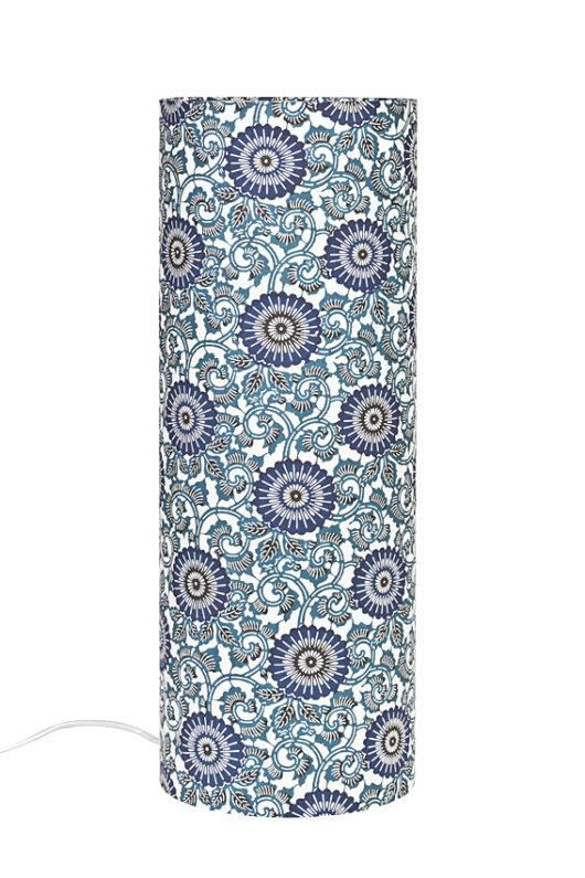 Lampe de table azul grecque eteinte