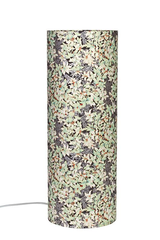 Lampe de table zen menthe en papier japonais eteinte