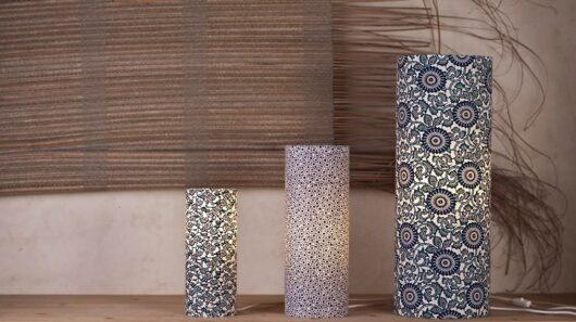 Lampe à poser en papier japonais