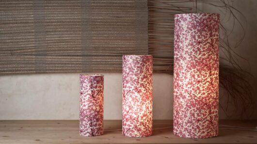 Lampes en papier japonais pourpre