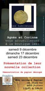 Luminaires en papiers Agnès Clairand Corinne Dubreuil