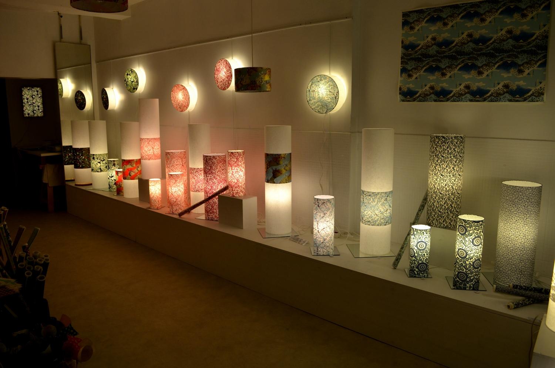 Luminaire en papier japonais