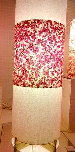 Pied de lampes en papiers japonais