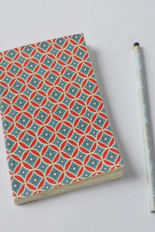 Papeterie en papier japonais rouge et vert