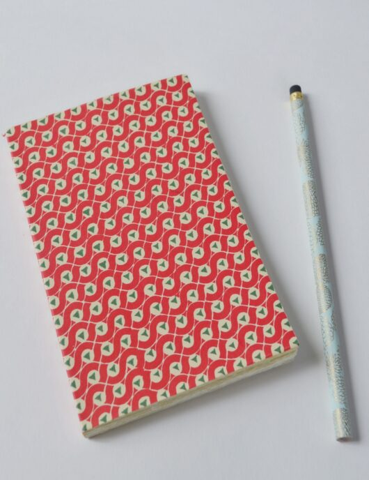 Papeterie japonaise rouget et verte