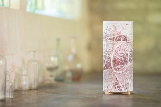 Lampe d'artiste à la charrette en papier japonais