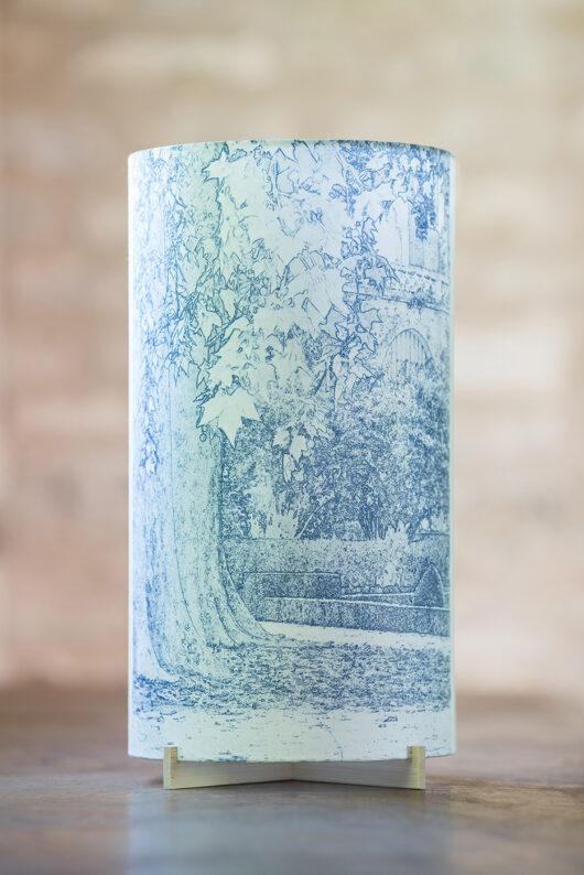 Lampe d'artiste papier japonais