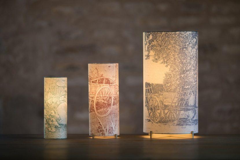 Lampes d'artiste en papier japonais