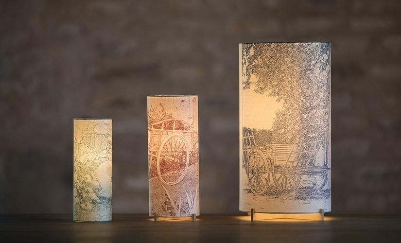 Lampes d'artiste en risographie