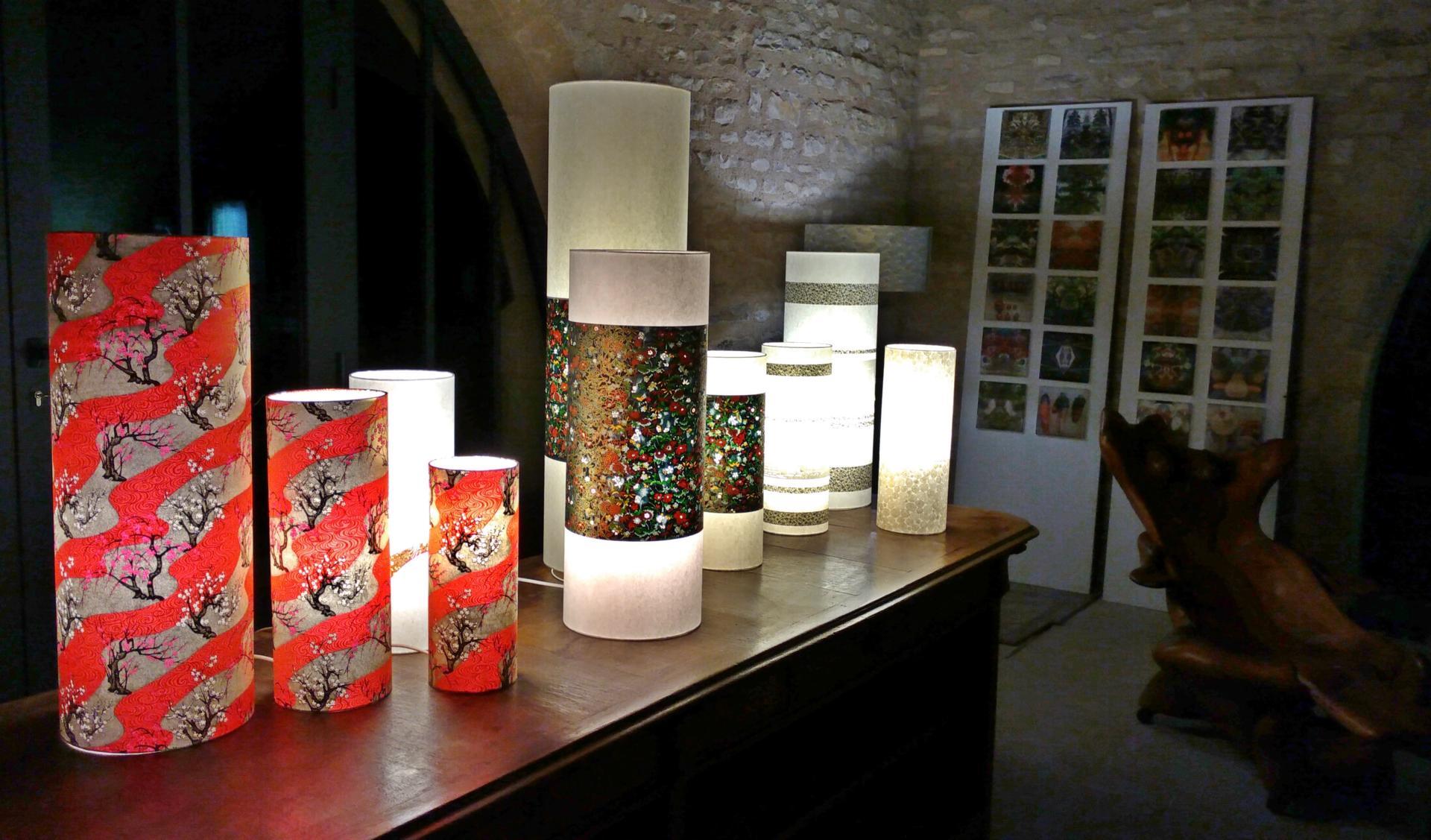 Lampes en papiers japonais