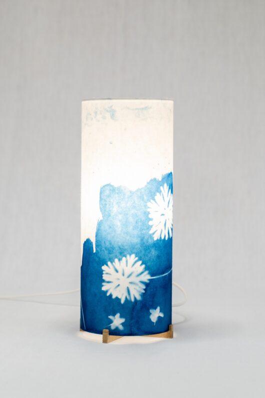 Lampe de chevet en cyanotype aux feuilles S1