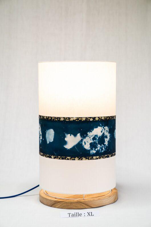 Lampe en cyanotype à l'hortensia XL1