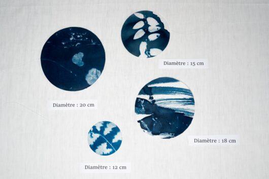 Attrape reve en cyanotype decoration