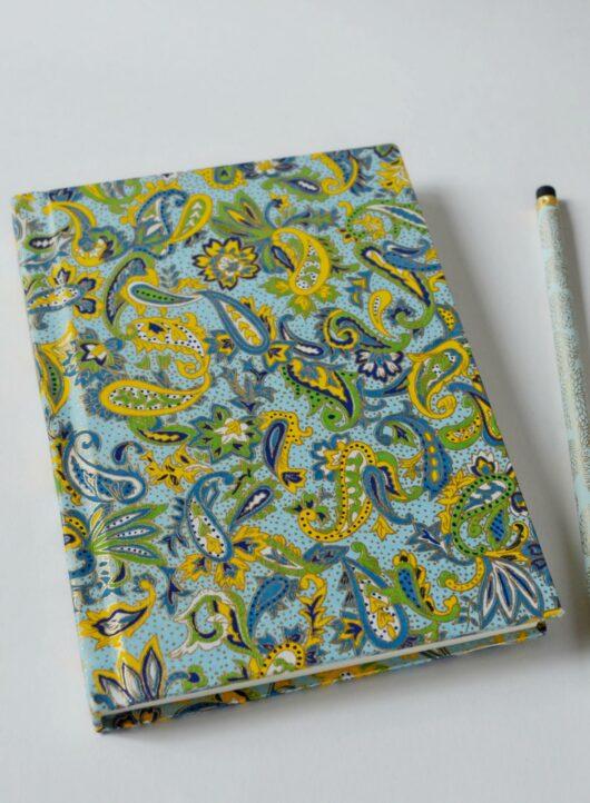 Carnet fantaisie en papier japonais cachemire