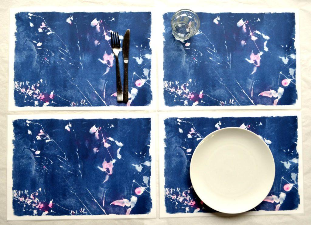 set de table fleurs de champs