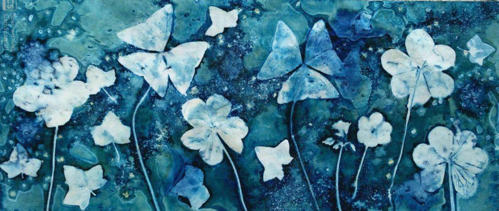 Cyanotype agnes Clairand trefles