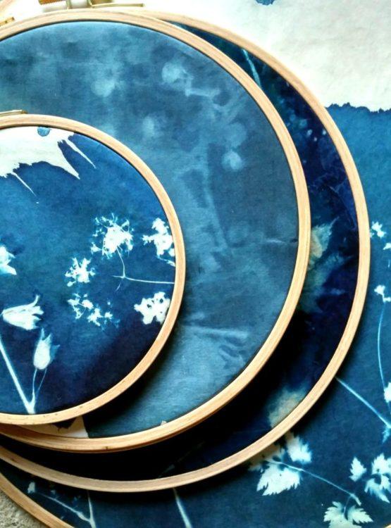Cyanotype tambour