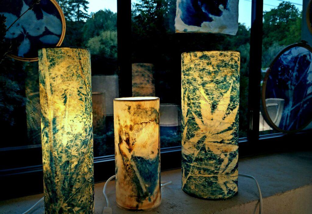 Lampe en cyanotype
